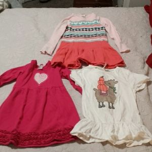 Bundle of Girls Dresses Size 4/4T